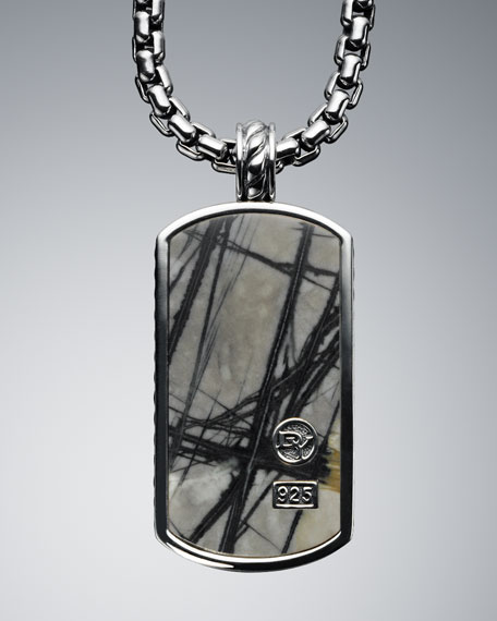 Extra Large Picasso Jasper Tag Necklace