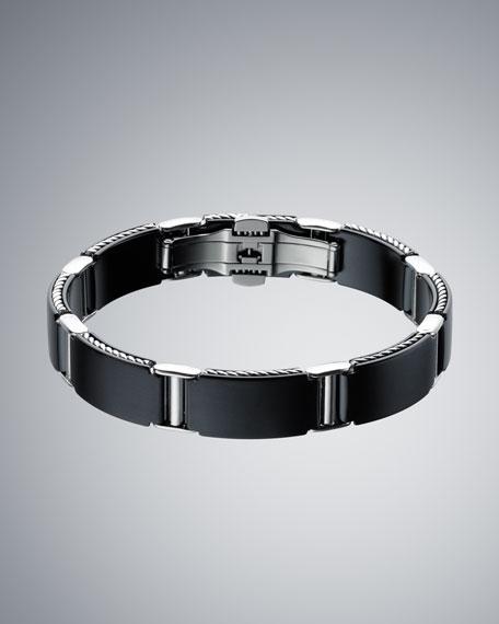 Black Titanium Streamline Link Bracelet