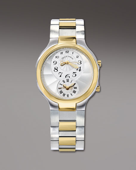 Round Two-Tone Watch on Interchangeable Two-Tone Bracelet