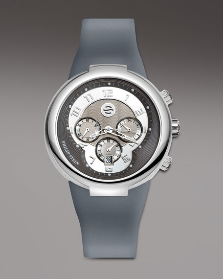 Gray Active Chronograph Watch on Gray Silicone Strap