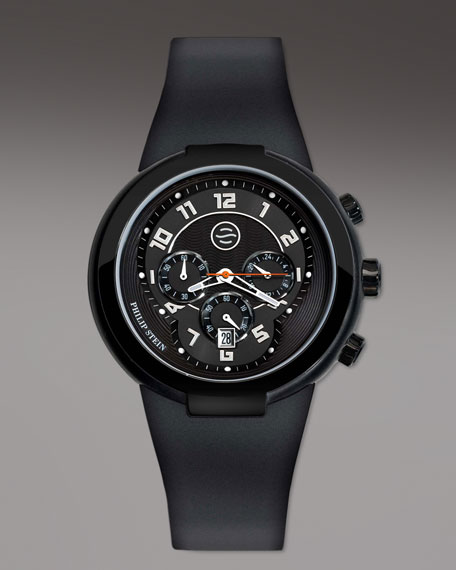 Black Active Chronograph Watch on Black Silicone Strap