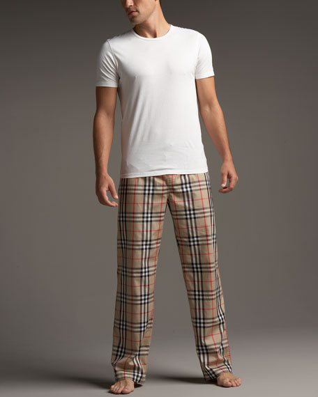 Check Pajama Set, Camel