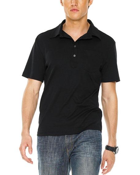 Button Polo, Black