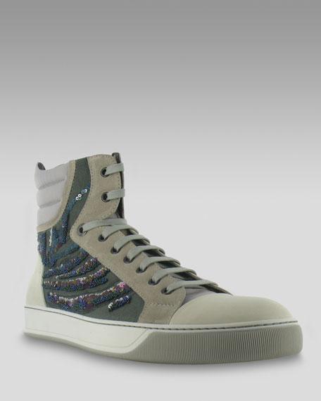 Sequin High-Top Sneaker