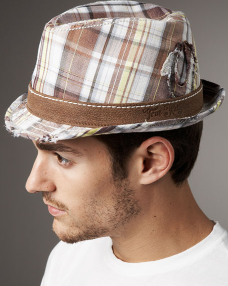 Plaid Trilby Hat
