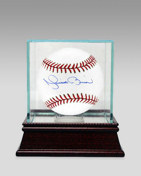 Mariano Rivera Baseball In Glass Case