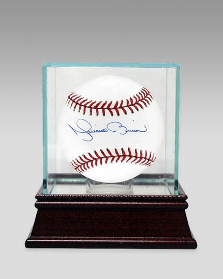 Mariano Rivera Baseball In Glass Case