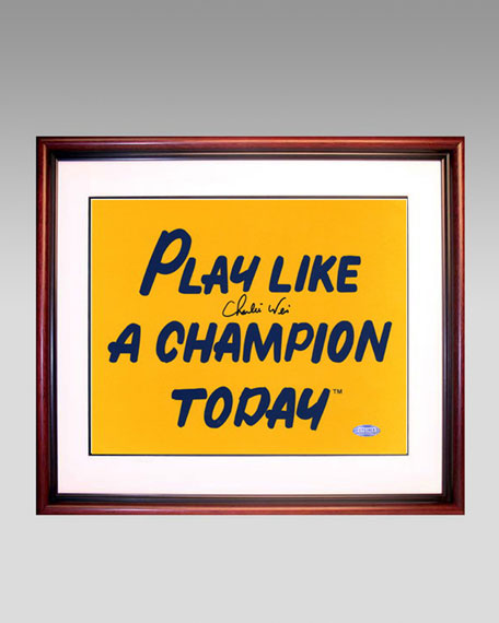 Weis Play Like A Champion Today Framed