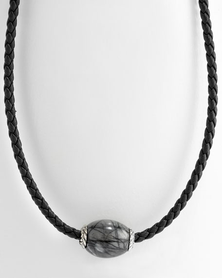 3mm Picasso Jasper Ojime Necklace