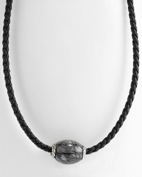 3mm Picasso Jasper Ojime Necklace