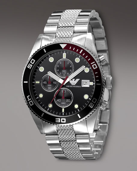 Sport Textured-Bracelet Round Watch