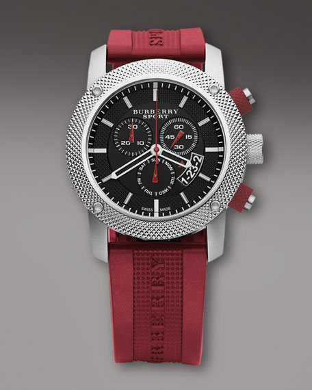 Chronograph Watch, Red