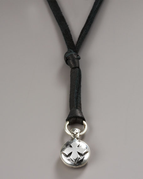 Cross Button Necklace