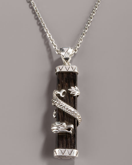 Palmwood Dragon Pendant Necklace