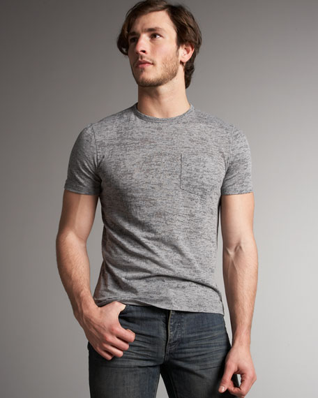 Burnout Tee, Light Gray