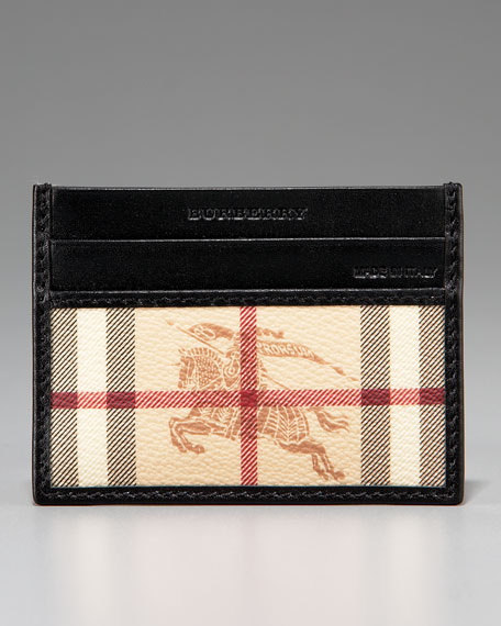 Classic Check Credit Card Case