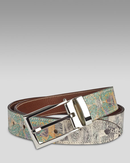 Quill Collage-Printed Belt