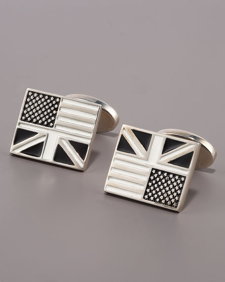 Anglo American Flag Cuff Links