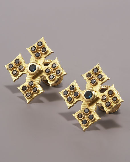 Pointed Cross Cuff Links