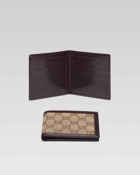 Canvas Bi-Fold Wallet, Beige