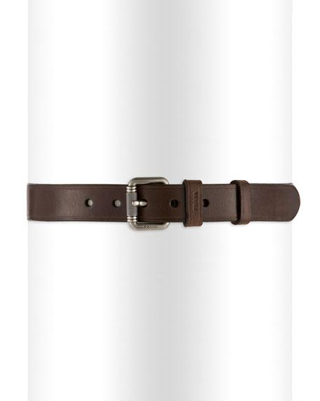 Plain Buckle Belt, Brown