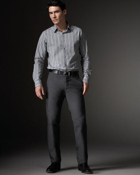 Straight-Leg Pants, Dark Ash