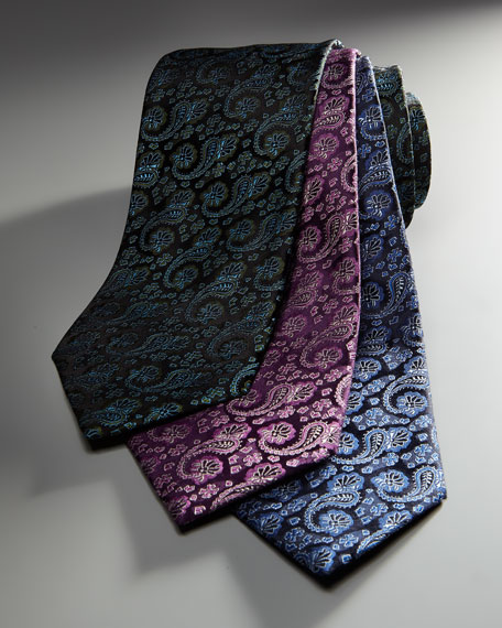 Paisley Tie, Brown/Green