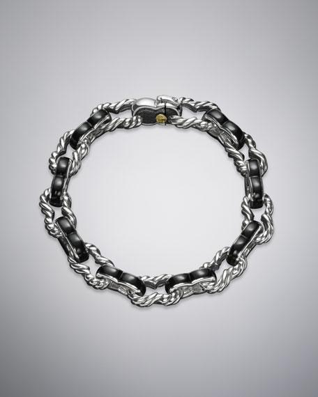 Black Onyx Exotic Stone Link Bracelet