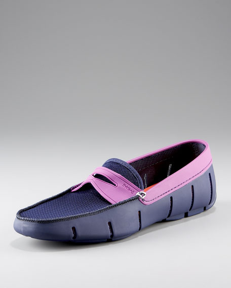 Rubber Loafer, Navy/Purple