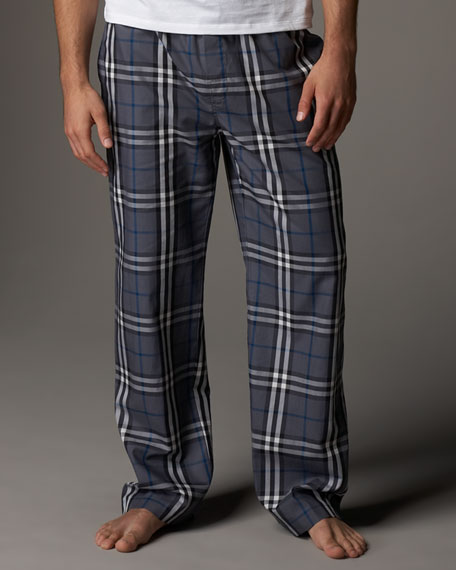Check Pajama Set, Gray