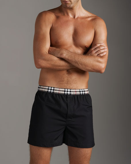 Boxers With Check Waistband