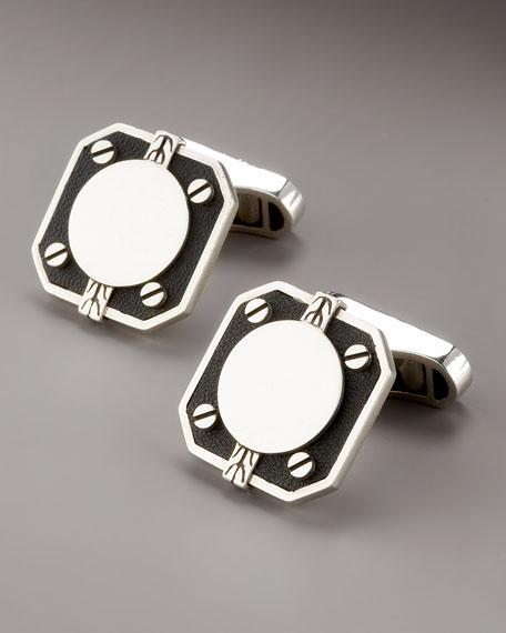 Dot Deco Square Cuff Links
