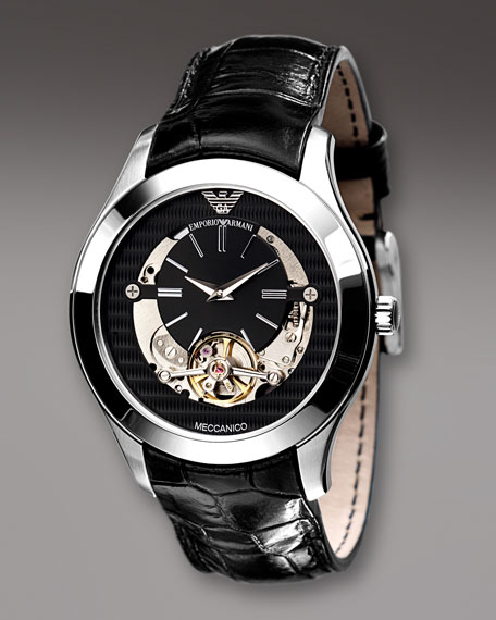 Meccanico Watch, Black