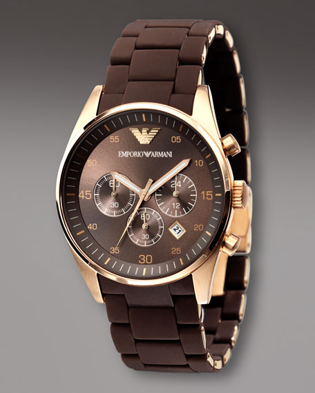 Chronograph Sport Watch, Brown