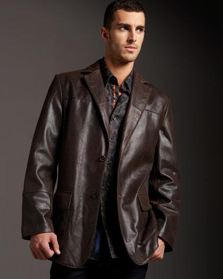 Marcello Leather Blazer
