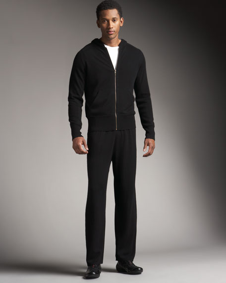Cashmere Track Pants, Black