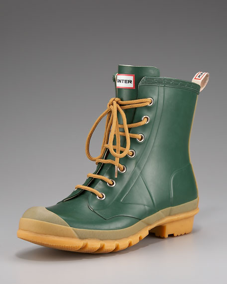 Bormio Rubber Combat Boot, Green