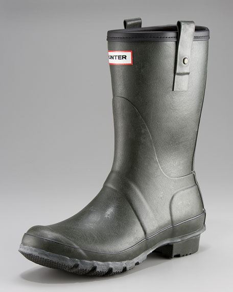 Short Welly Boot, Dark Olive