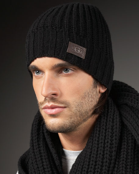 Knit Skull Cap, Black