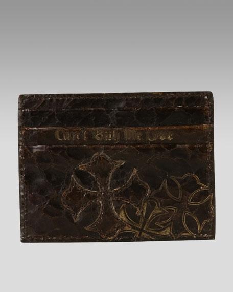 Crackled Leather Card Case