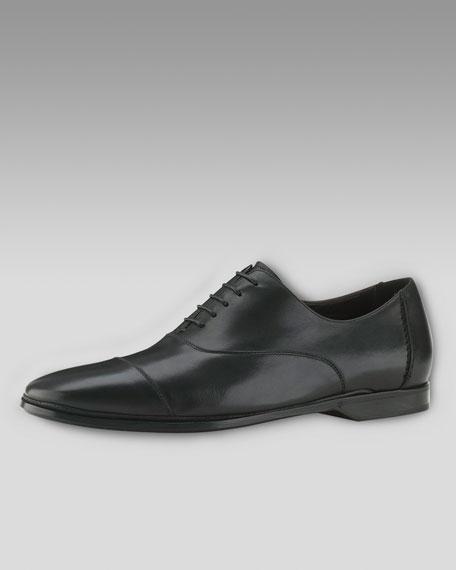 Air Lorenzo Cap-Toe Oxford, Black