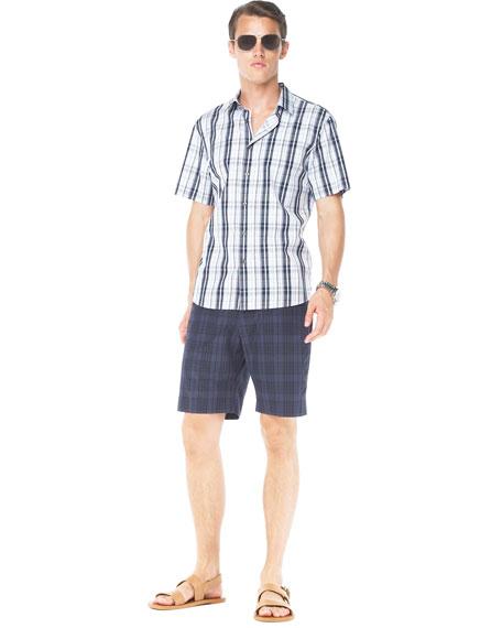 Modern-Fit Plaid Shorts
