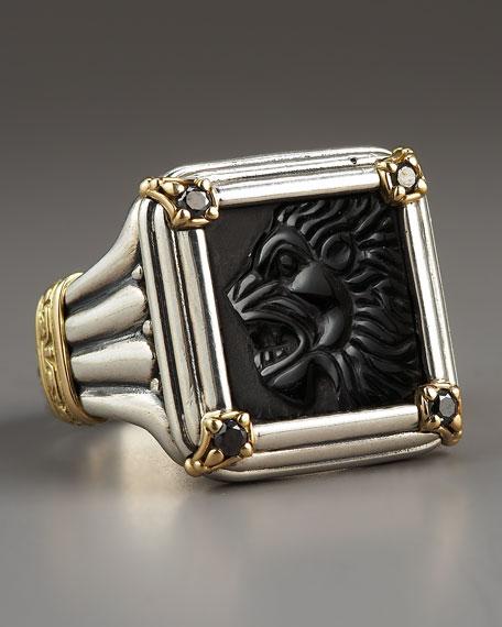 Black Diamond Paganini Lion Ring