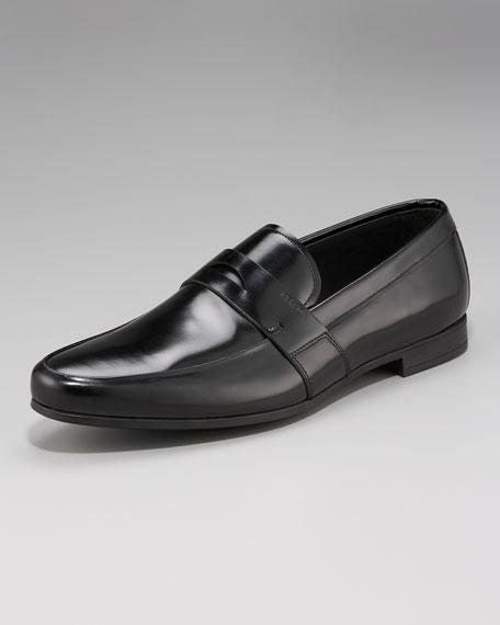 Polished Leather Loafer