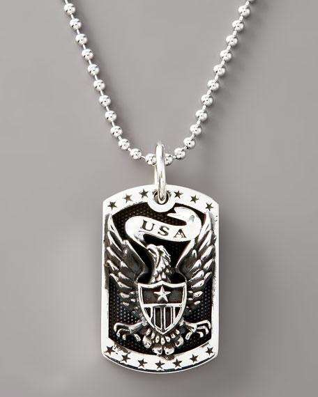 Eagle Dog Tag Necklace
