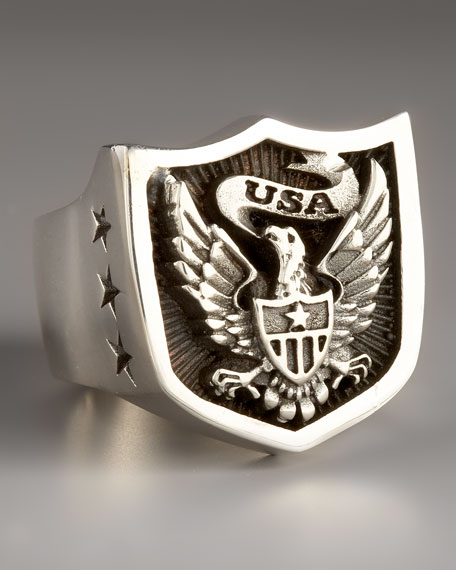 Eagle Shield Ring
