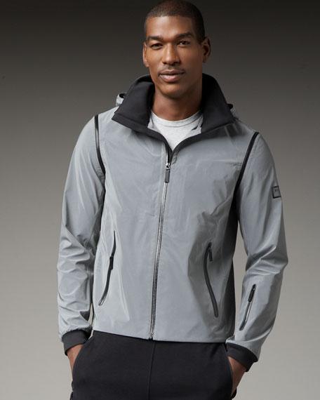 Vest Hooded Nylon Jacket Sport 63