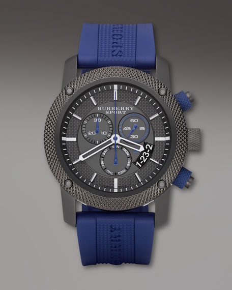 Round Sport Watch, Blue