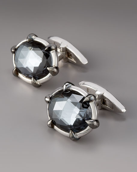 Crystal Haze Cuff Links, Hematite