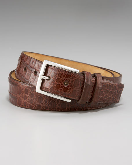 Crocodile Belt, Chocolate